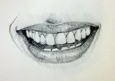 How to draw an open mouth - simple planes