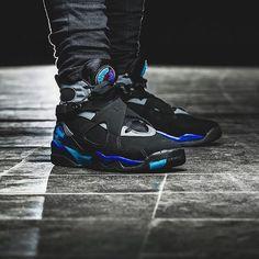 "Nike Air Jordan 8 Retro ""Aqua"" | Available at kickbackzny.com."