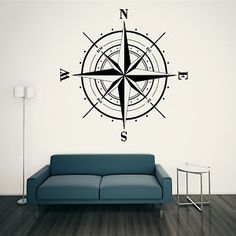 North East South West Compass Wall ART Sticker Bathroom Decal Graphic | eBay