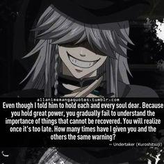 undertaker black butler quote