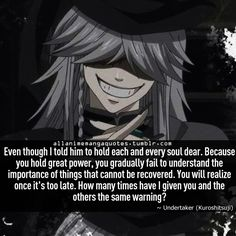 undertaker black butler quote