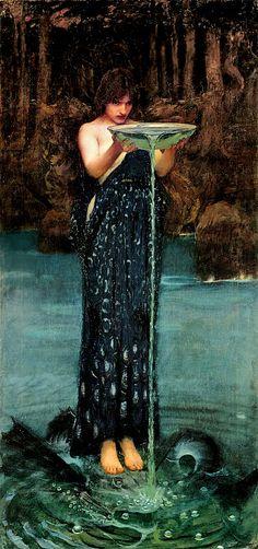 Circe Invidiosa (Jealous Circe) by John William Waterhouse, 1892. Oil on canvas