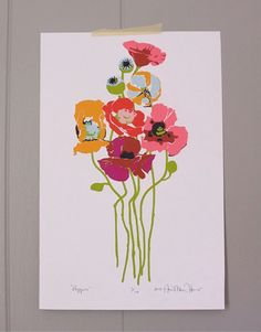 """Poppies"" // Limited Edition print of original art by Anna Maria Horner"