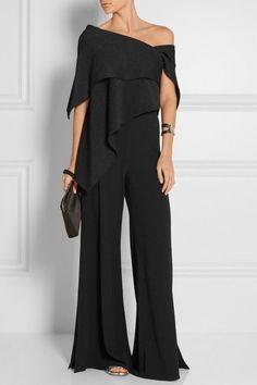 Fashion Off-Shoulder Pure Colour Jumpsuit Fashion Off-Shoulder Jumpsuit in reiner Farbe – Chicgostyle Off Shoulder Jumpsuit, Jumpsuit With Sleeves, Look Fashion, Womens Fashion, Fashion Tips, Feminine Fashion, Suit Fashion, Fashion 2018, Hijab Fashion