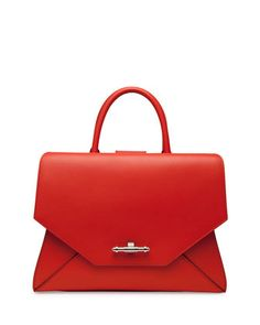 Obsedia Top Handle Small Leather Satchel Bag, Orange  by Givenchy at Bergdorf Goodman.
