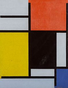 Piet Mondrian, 1872 - 1944, Composition with red, yellow, black, blue and grey, 1921, oil on canvas, 48 x 38 cm, Gemeentemuseum Den Haag, longterm loan of The Rembrandt Society.