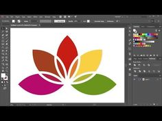 How to Create a Flower Logo in Adobe Illustrator - YouTube