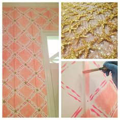 Lilly Pulitzer Retail Store: Southlake, TX Only the glitteriest of starfish for our lovely Lonestar state ladies! Fish Wall Decor, Barbie Dream House, Little Girl Rooms, Wall Treatments, Home Wall Art, Beautiful Space, Retail Design, House Painting, Lilly Pulitzer