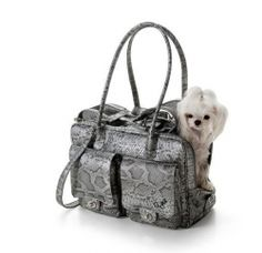 Eh Gia Mia pocket Bag 2.0 Snake Leather Grey Hondendraagtas