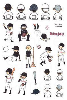 Doodle Coloring, Paper Goods, Role Models, Diy And Crafts, Doodles, Kawaii, Cartoon, Baseball, History