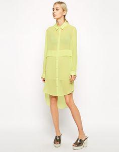 Chiffon shirt dress
