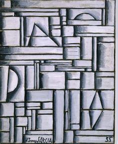 Torres García, Joaquín: Estructura abstracta con formas geométricas intercaladas