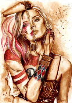 """""""Harley Quinn taking over Margot Robbie"""""""
