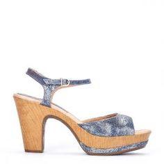 Sandalia pulsera Weekend by Pedro Miralles en piel print jeans #shoes #ss16 #inspiration  #shoeporn #sandals #zapatos #moda #calzado #jeans