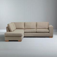 Buy John Lewis Felix LHF Chaise Corner Sofa with Light Legs Online at johnlewis.com