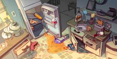 Visual Development: Kitchen by taho on DeviantArt