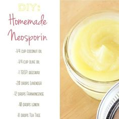 Homemade neosporin  https://www.youngliving.org/theesouthmom