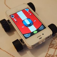 So cool! Makego turns your iPhone / iPod Touch into a toy vehicle. It encourages fun, open ended collaborative play between parent and child.
