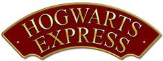 Hogwarts Express Railway Train Sign, Metal composite shaped sign, Personalised