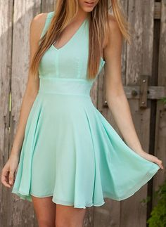 mint. Gorgeous dress, if I had a prom this is what Id wear, simple but beautiful! find more women fashion ideas on www.misspool.com