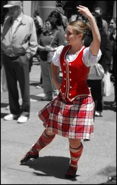 Kilt with red vest #Longniddry #Red #Tartan
