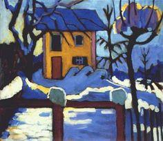 Gabriele Munter, House in Winter on ArtStack #gabriele-munter #art