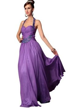 kingmalls Womens Purple Long Elegant Formal Evening Dresses - [UK & Ireland Price:£186.56]