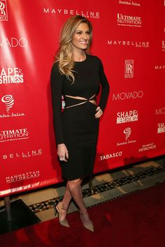 Erin Andrews attends the 2014 Shape & Men's Fitness Super Bowl Party at Cipriani 42nd Street on January 31, 2014 in New York City. #ErinAndrews