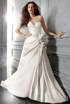 Wedding Dress Photos   Ideas. CB Couture - Asymmetrical ruched 75b045eb7f17