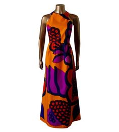 Etsy traven7 Vintage 60 s Mod MARIMEKKO Bold Print Shift Maxi Dress - Stylehive