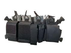 Chest rig-ul este confectionat din Cordura 1100 si se poate transforma in sac de transport echipament prin intoarcerea pe dos a dump pouch-ului. Se compune din : -4 compartimente incarcatoare M4/ AK/ G36 -dump pouch  25x10x20cm. Poate gazdui atunci cand se transforma in sac : 7 incarcatoare sau 6 incarcatoare si pistol/ punga de bile/ grenada 40mm -pouch incarcator pistol -pouch reglabil grenada 40mm -pouch CO2/ alice  7buc -pouch utilitar. 11x7x4cm