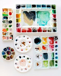 A couple pointers on how to set up your palette on the blog today. #Watercolor101