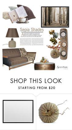 """Sepia Shades"" by eyesondesign ❤ liked on Polyvore featuring interior, interiors, interior design, home, home decor, interior decorating, TastemastersDesignGroup and eyesondesigninteriors"