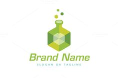 Logo design with concept of stylized lab flask with its body designed as cube, polygon or gem. Glasses Logo, Cube Design, Medical Logo, Education Logo, Shirts For Teens, Logo Design Template, Physical Science, Chemist, Camping Gifts