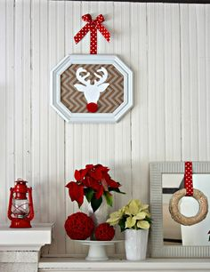 Red and White Christmas Decor |  View From The Fridge
