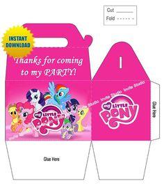 Shop for cheap 2014 Party Favors - My Little Pony Party Favor Box Instant