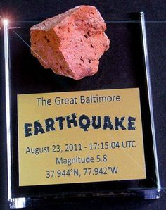 We were shakin' last year and I had fun with it: Baltimore Earthquake as reported by the Baltimore Crier. With real mementos. Bloom Where Youre Planted, Chesapeake Bay, Baltimore, Maryland, The Past, Memories, Felt, Spaces, History