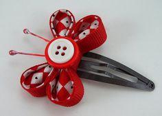 Fabric and Ribbon Kanzashi Butterfly Tutorial by SundayGirlDesigns