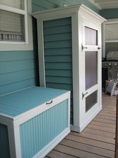 Porch Storage Idea For The Tv