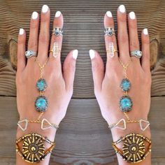 Torchlight Jewelry Aura Ring and Lunette Ring