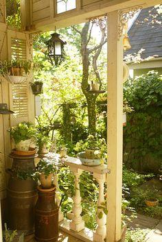 Cute idea for a small porch