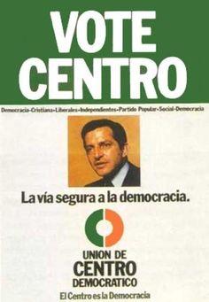Cartel de UCD para las elecciones generales de 1977. En las Elecciones Generales del 15 de junio de 1977, UCD obtuvo 6.310.391 votos (34,4%) y 166 escaños. En éstas, de sus candidatos el 36% eran independientes procedentes de sectores moderados del franquismo, el 17% eran miembros del Partido Popular y el 12% de sectores democristianos.