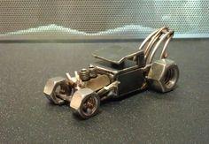 Scrap Metal Rat rod Tow truck by holmeswelddesign on Etsy, $40.00