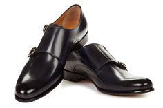 Handcrafted Men's Double Monk Strap Shoe | Paul Evans