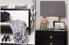 black and white monochrome elegant feminine bedroom decor design interiors How to create a glamorous and sophisticated interior : elegant luxurious stunning and sophisticated chic interiors: bedroom design Feminine Bedroom, Sofa And Chair Company, My Ideal Home, Best Sofa, Upholstered Furniture, Sofa Chair, Chester, Home Accessories, Terrace