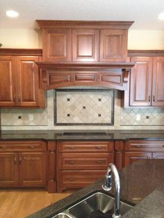 Kitchen Backsplash. Durango Travertine Custom Cut To 4x4 With Metal Tile  Accents.