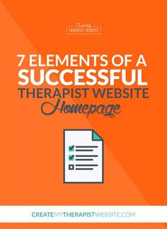 No doubt about it, your homepage is one the first impressions your future therapy clients will have of you and your private practice. With just mere seconds to grab the attention of a website visitor, it's important to know what to put on your private practice website's homepage. In this article I'll give you 7 crucial elements you need on your therapist website homepage to impress potential clients and capture their attention.