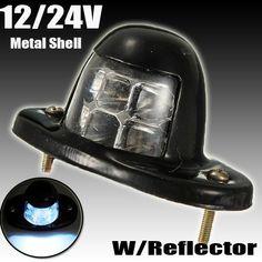 Audew 6 LED NUMBER PLATE LIGHT LICENCE LAMP TRUCK TRAILER BOAT VAN UTE CARAVAN 12V 24V - $8.99
