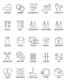 Collection of kitchen thin line icons royalty-free collection of kitchen thin line icons stock vector art & more images of icon Paper Gifts, Diy Paper, Kitchen Icon, Free Label Templates, Label Image, Diy Interior, Label Design, Graphic Design, Monogram Logo