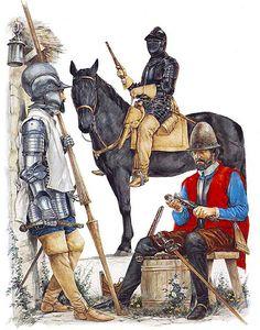 The Armada Campaign, 1588: • Spanish lancer  • German Reiter  • Spanish hargulatier